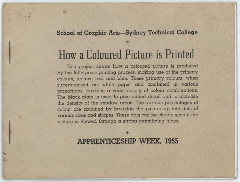 How A Coloured Picture Is Printed