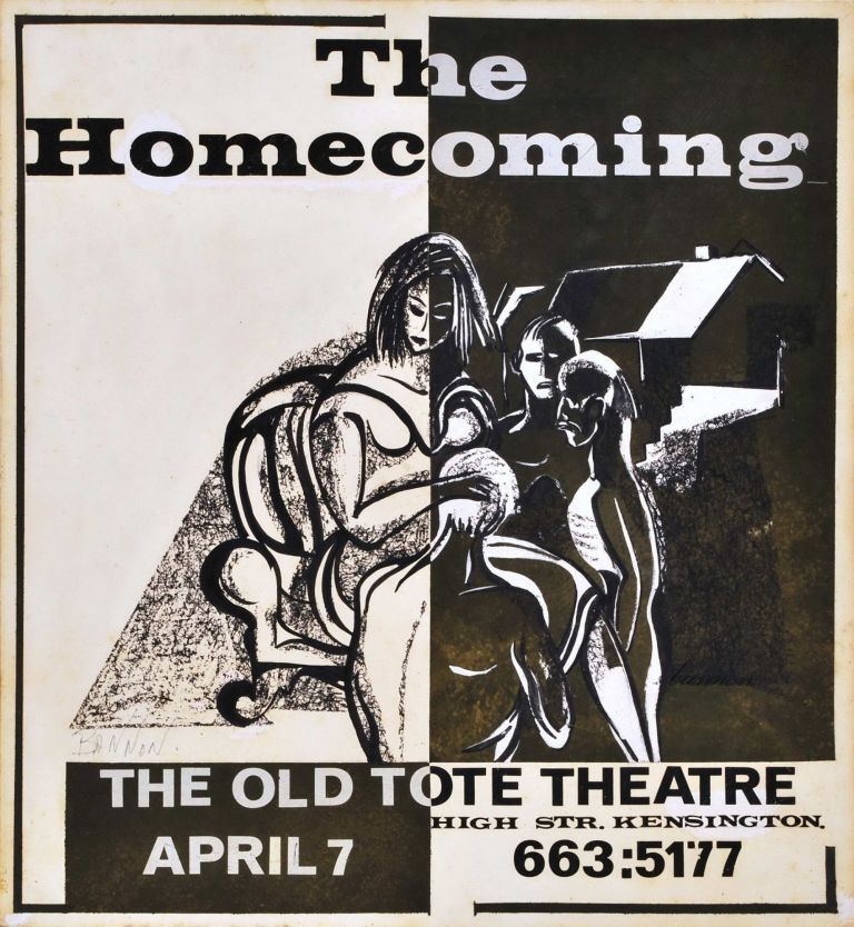 """""""The Homecoming"""", The Old Tote Theatre, High St, Kensington. Charles Bannon, Australian."""