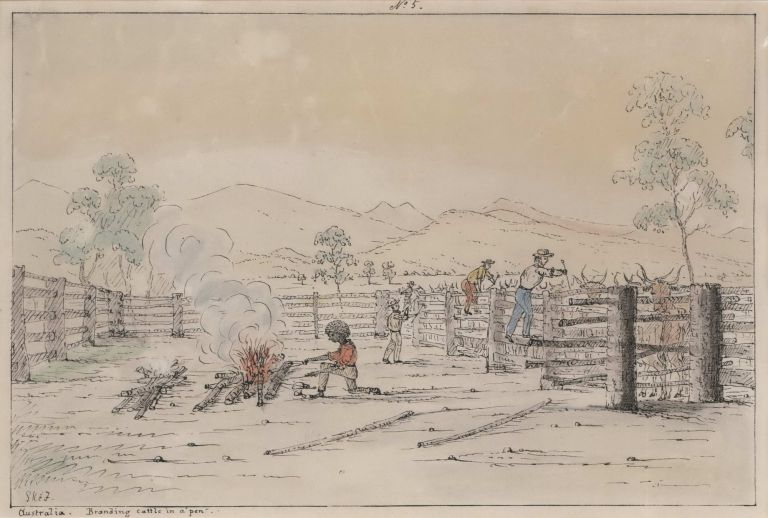 Australia [Cattle Droving, Queensland]. George Knight Erskine Fairholme, Aust.