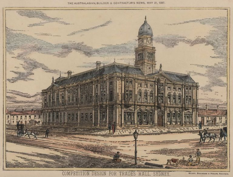 Competition Design For Trades Hall, Sydney