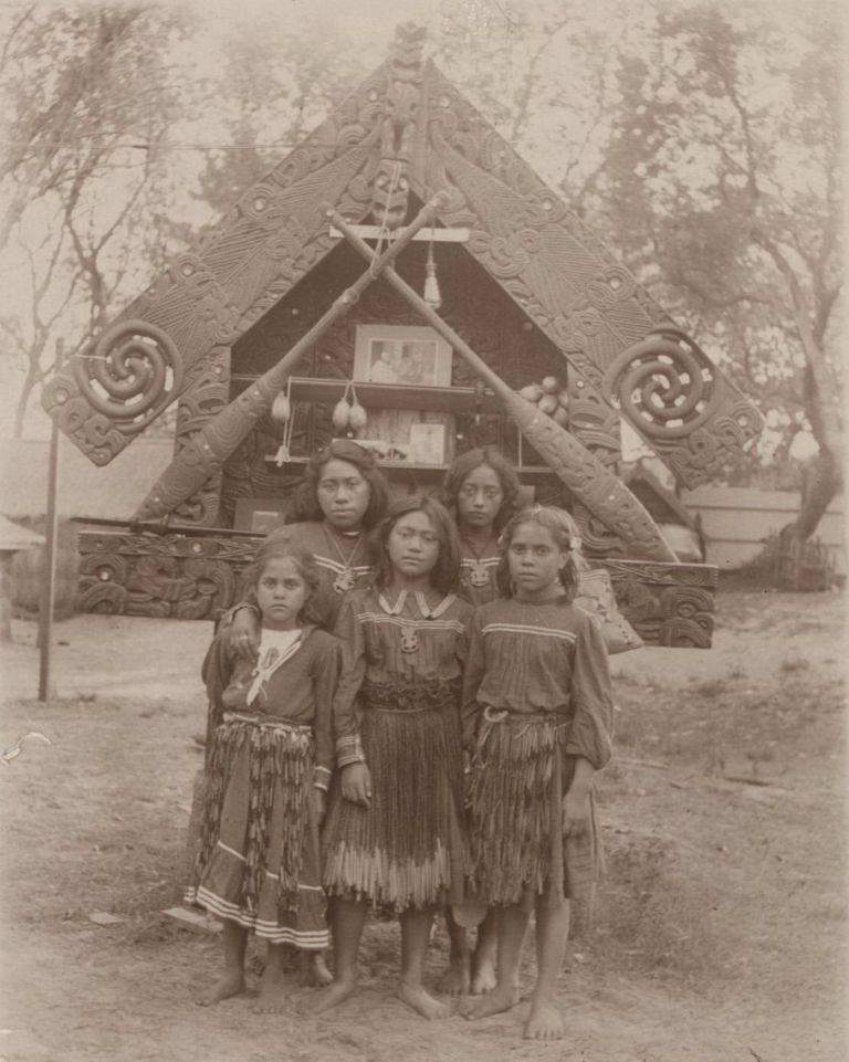 [Maori Women And Children]
