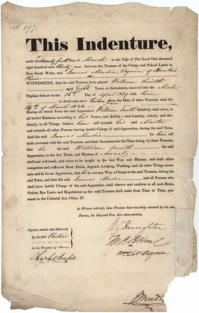 Indenture Between James Mudie And William Smith