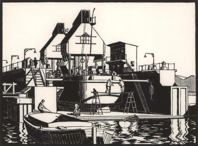 [Ship In Dry Dock]. M M. Parker.