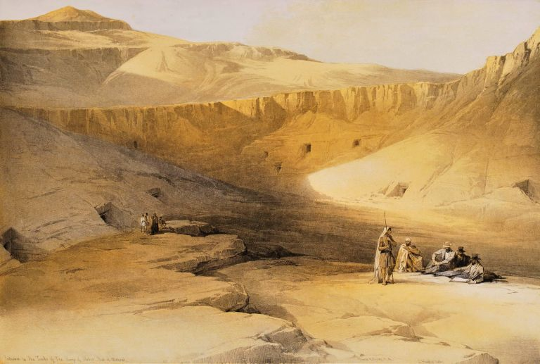 Entrance To The Tombs Of The Kings Of Thebes – Biban-El-Molook [Egypt]. David Roberts, British.