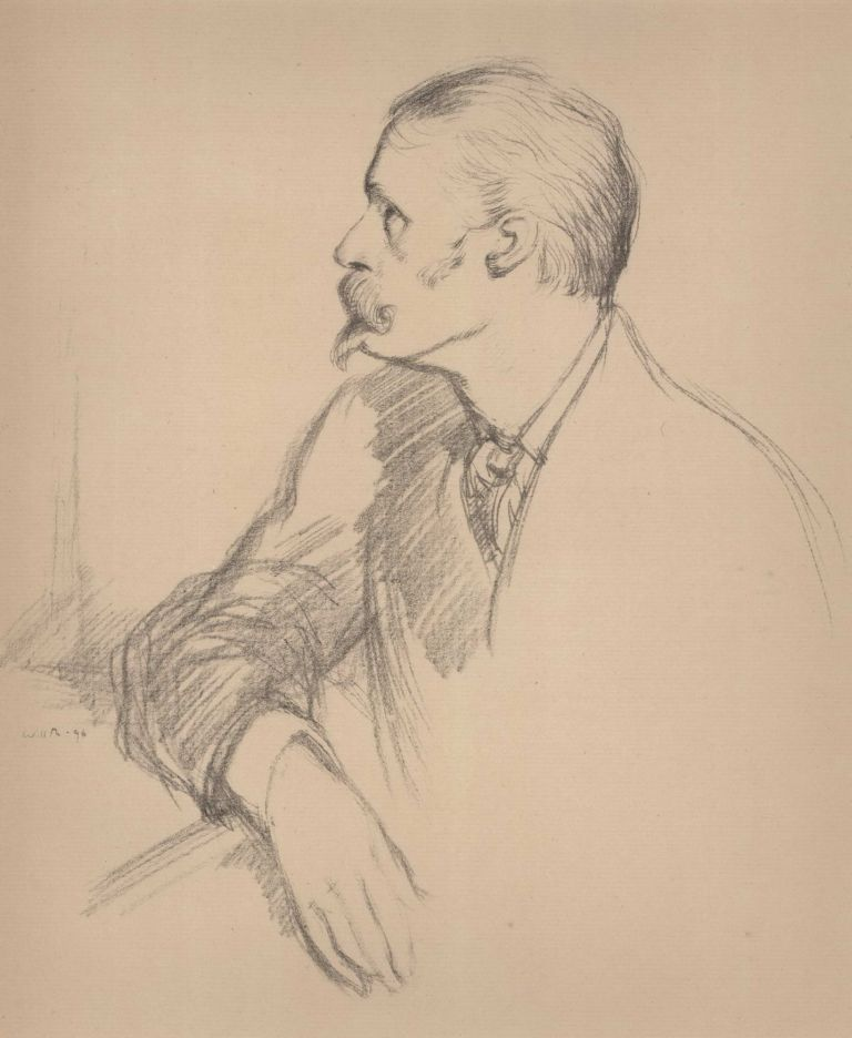 Walter Crane. William Rothenstein, British.