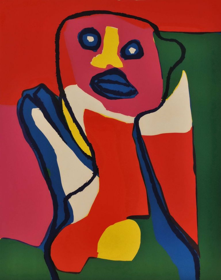 [Abstract Figure With Yellow Nose]. Karel Appel, Dutch.