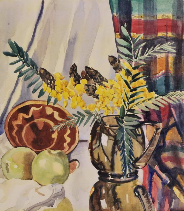 [Still Life With Flowers And Green Apples]. fl. Australian, s.