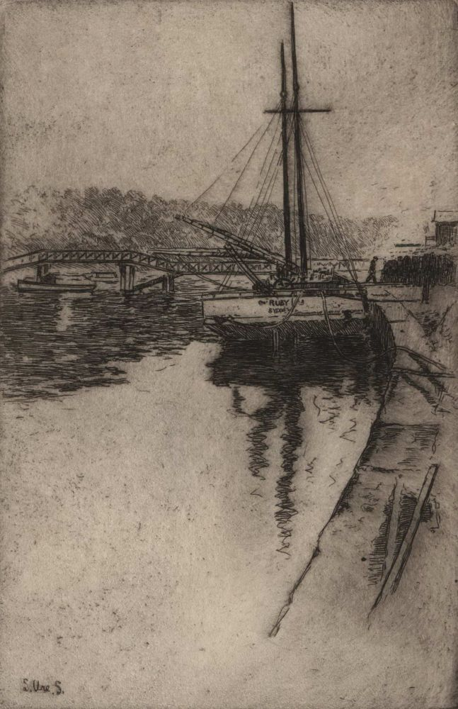 The Little Schooner, Mosman. Sydney Ure Smith, Aust.