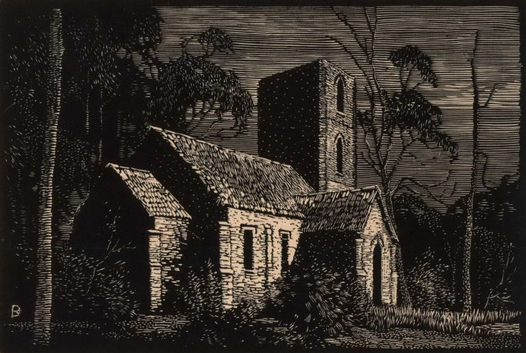 Ben Boyd's Church, Twofold Bay [NSW]. L. Roy Davies, Australian.