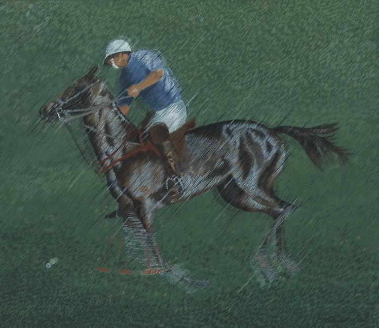 [Polo Player II]. Margaret Early, b.1951 Aust.
