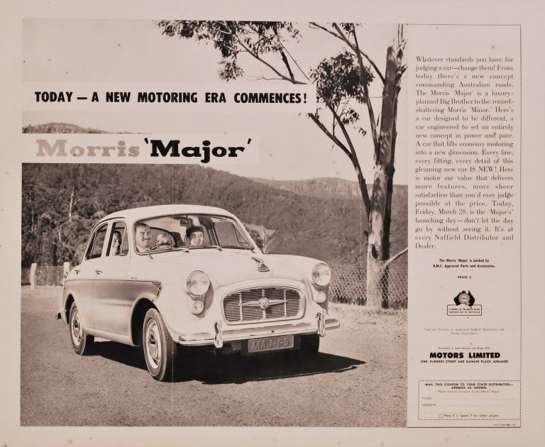 Today A New Motoring Era Commences! Morris Major