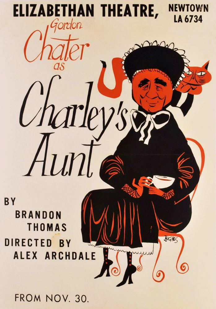 "Gordon Chater As ""Charley's Aunt"". Robert Hughes, Aust."