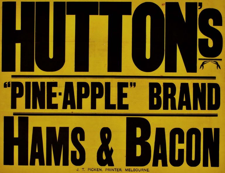 Hutton's Pine-Apple Brand Hams & Bacon