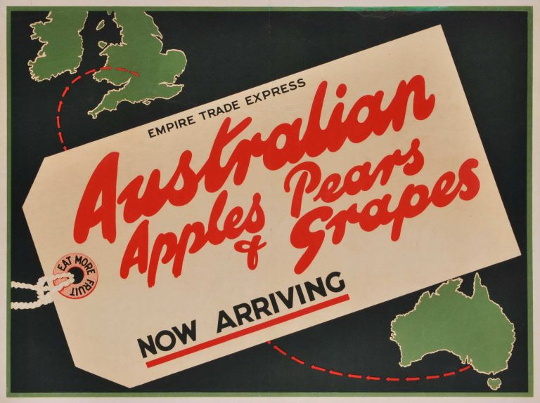 Australian Apples, Pears And Grapes. Now Arriving