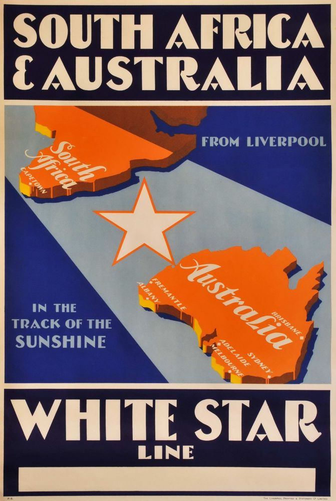 South Africa And Australia. White Star Line