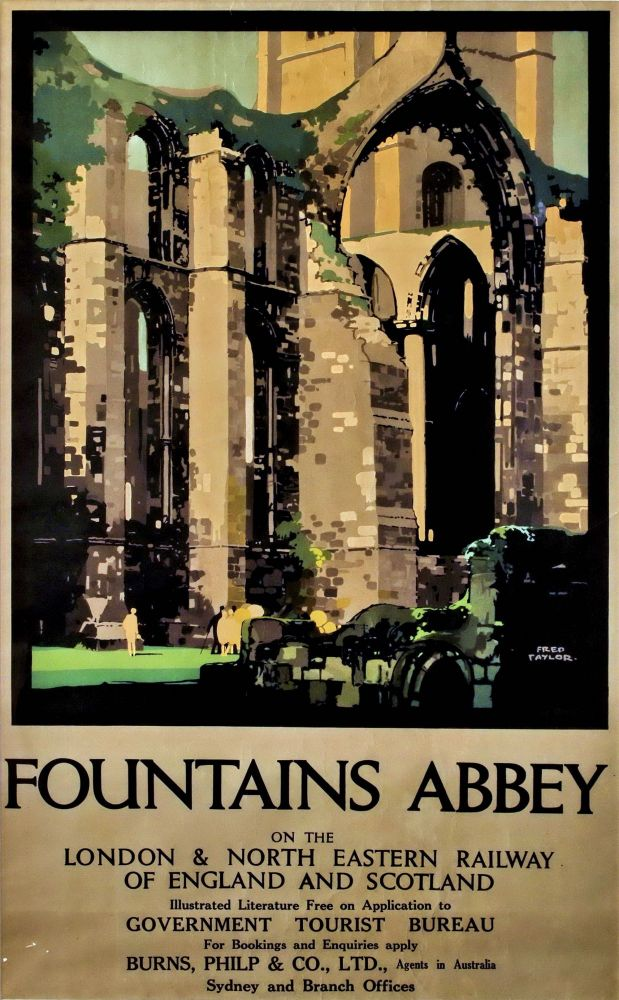 Fountains Abbey. Fred Taylor, British.