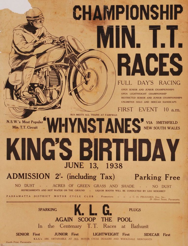Championship Min. TT Races. Full Day's Racing