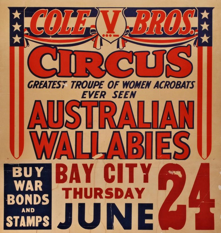 Cole Bros. Circus. Australian Wallabies