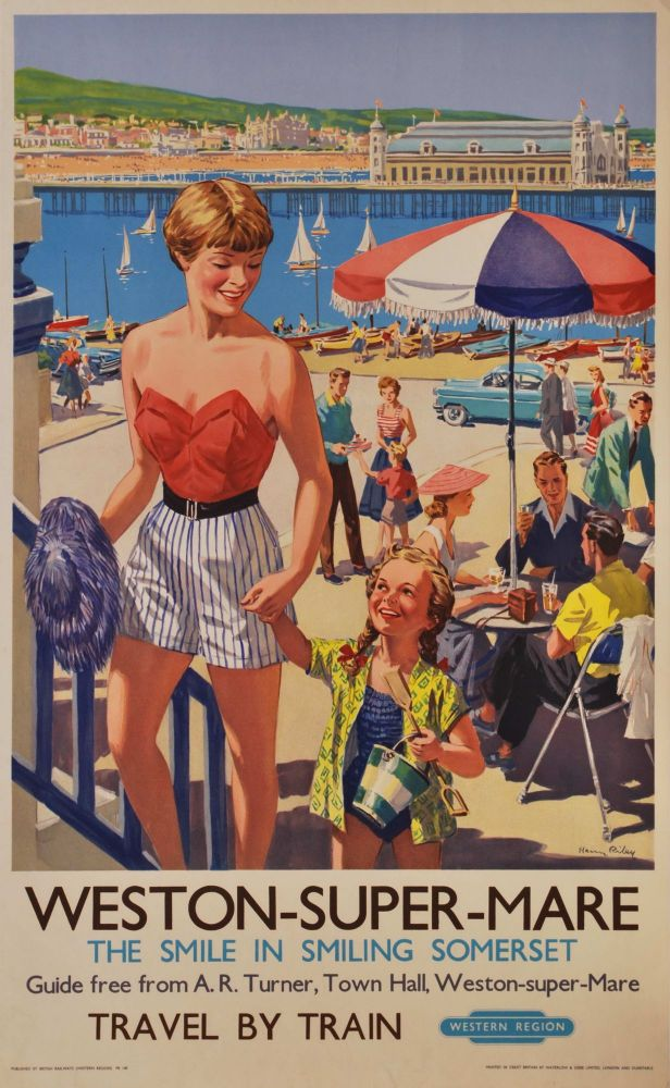 Weston-Super-Mare. The Smile In Smiling Somerset [Great Britain]. Harry Riley, British.
