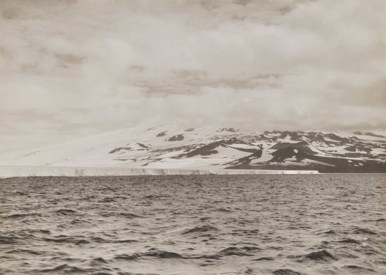 Face Of The Great Ice Barrier And Mount Terror. Herbert G. Ponting, Brit.