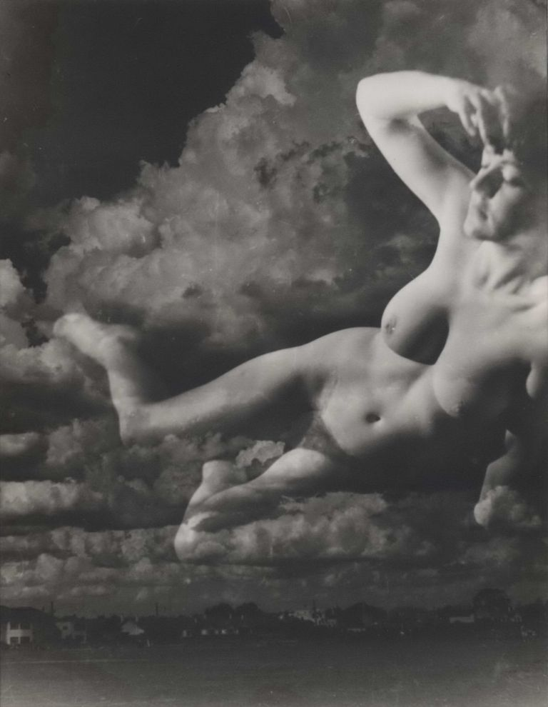 [Nude In Clouds]. Hugh Frankland, active 1950s-1960s Aust.