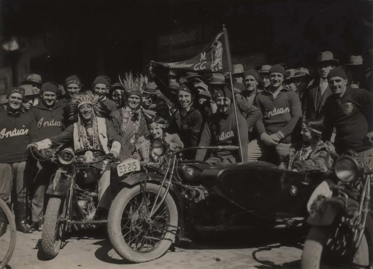 "[""Indian"" Motorcycle Club]. Sam Hood, Aust."
