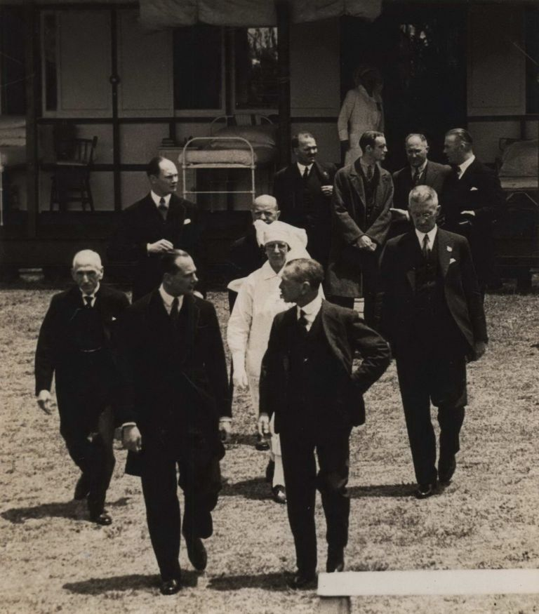 [Minister For Health And Repatriation (Lyons Government) Billy Hughes And The Duke Of Gloucester Inaugurating Prince Henry Hospital]. Sam Hood, Aust.
