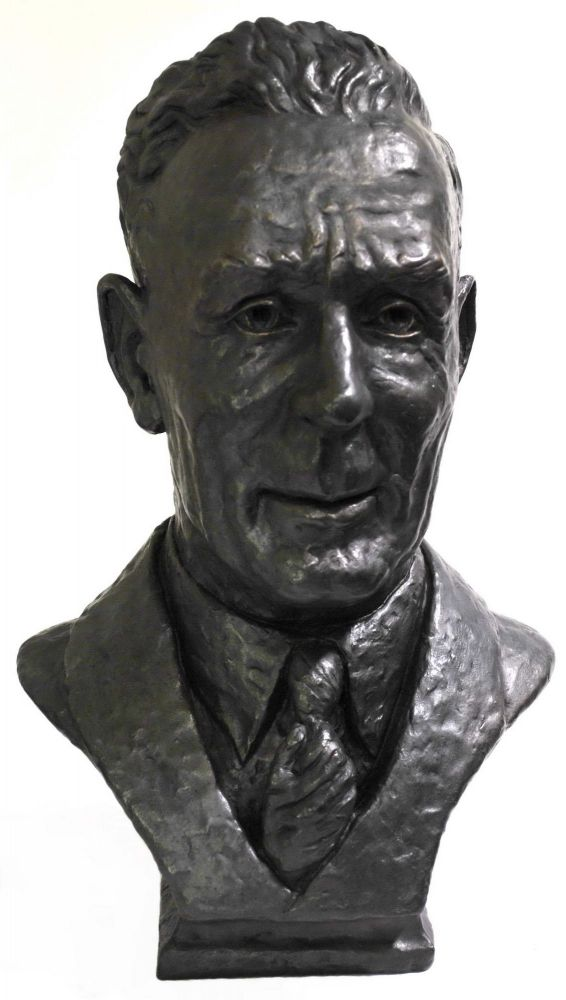 Bust Of Prime Minister Ben Chifley. Kenneth Palmer, Aust.