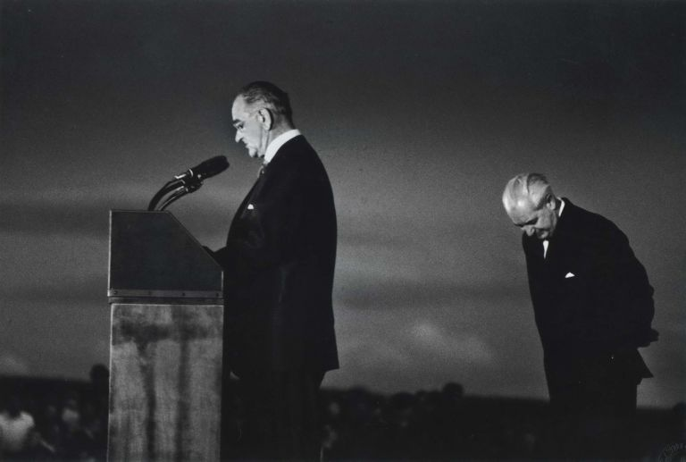 President Johnson And Prime Minister Holt At Canberra Airport. David Moore, Aust.