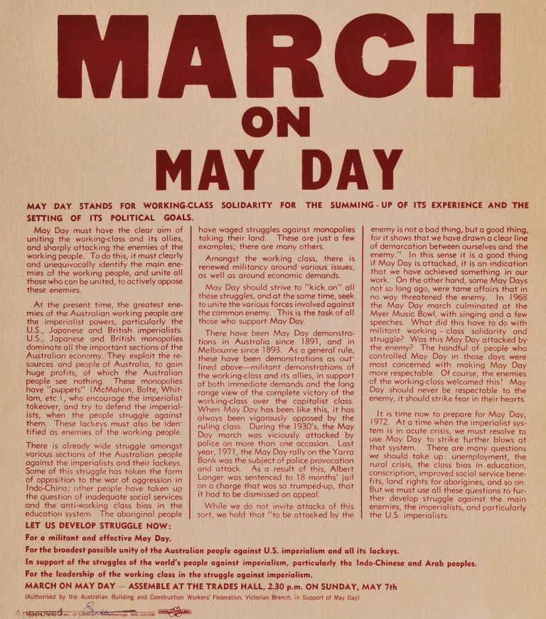 March On May Day