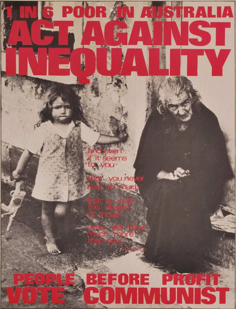 Act Against Inequality. People Before Profit. Vote Communist