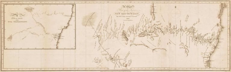 Chart Of Part Of The Interior New South Wales. After John Oxley, Brit./Aust.