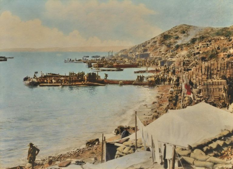 Anzac Cove Gallipoli, Turkey [Looking North To New Zealand Point]. Walter Ernest Dexter, Brit./Aust.