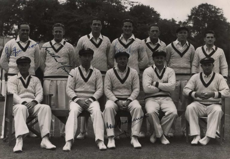 Australian Cricket Team Including Don Bradman, Captain, At Worcester, UK