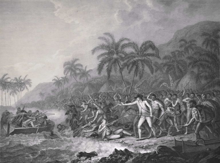 The Death Of Captain Cook. After John Webber, Brit.