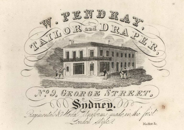 W. Pendray, Tailor And Draper. W. Moffitt, Aust.