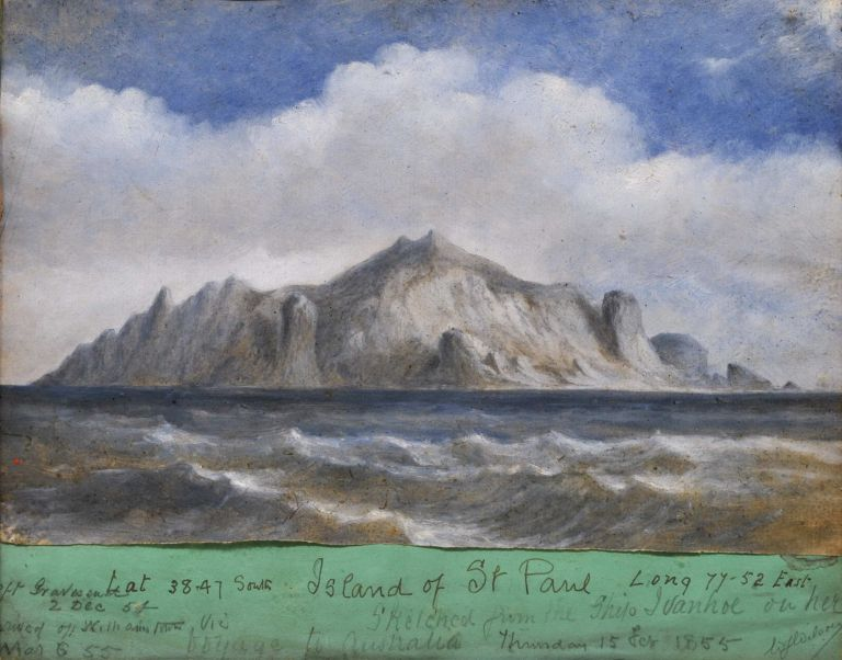 "Island Of St Paul Sketched From The Ship ""Ivanhoe"" On Her Voyage To Australia"