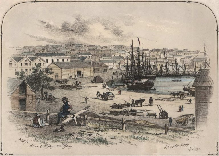 "Circular Quay, Sydney [From The Series ""Scenery In And Around Sydney""]. Samuel Thomas Gill, Aust."