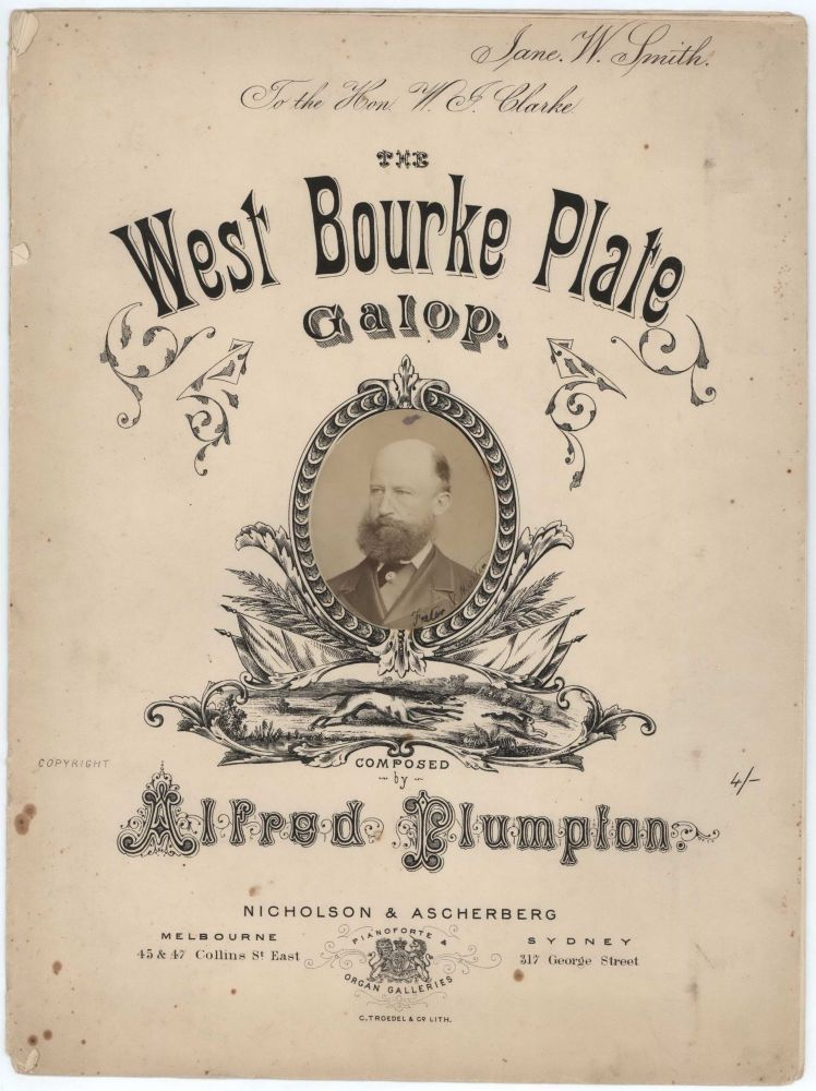 """The West Bourke Plate Galop"" [Sir William John Clarke]"