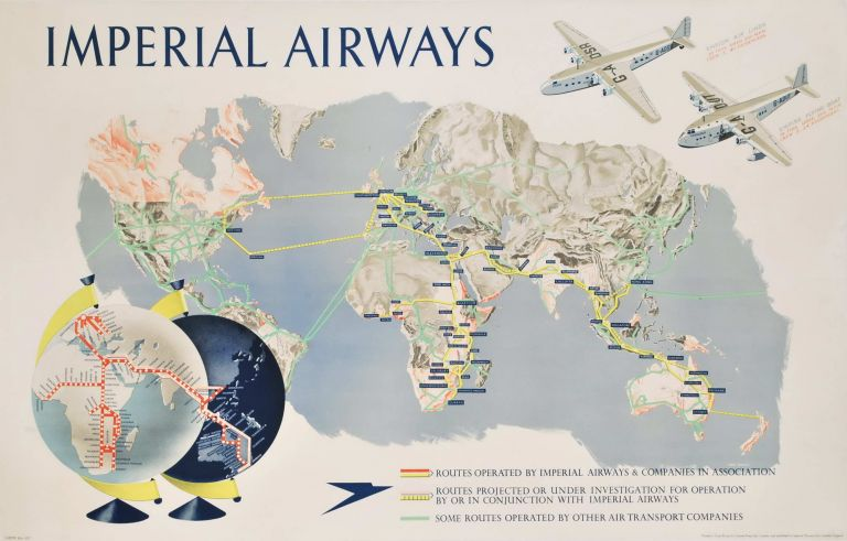 Imperial Airways [Map Of The World]. James Gardner, Brit.