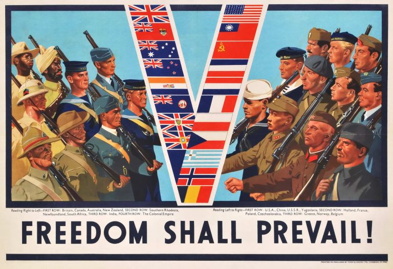 "Freedom Shall Prevail! [""V"" For Victory]"