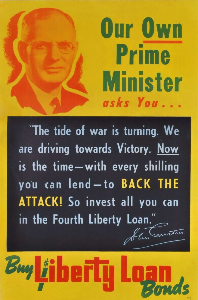 Our Own Prime Minister Asks You. Buy 4th Liberty Loan Bonds