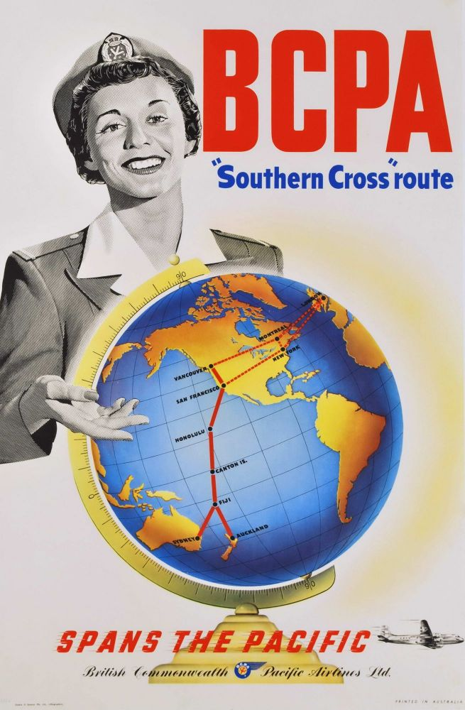 "BCPA ""Southern Cross"" Route Spans The Pacific"
