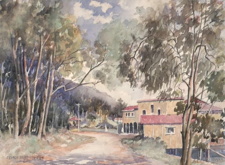 Church Point [Boatshed, Pittwater, NSW]. Geoffrey Myers.