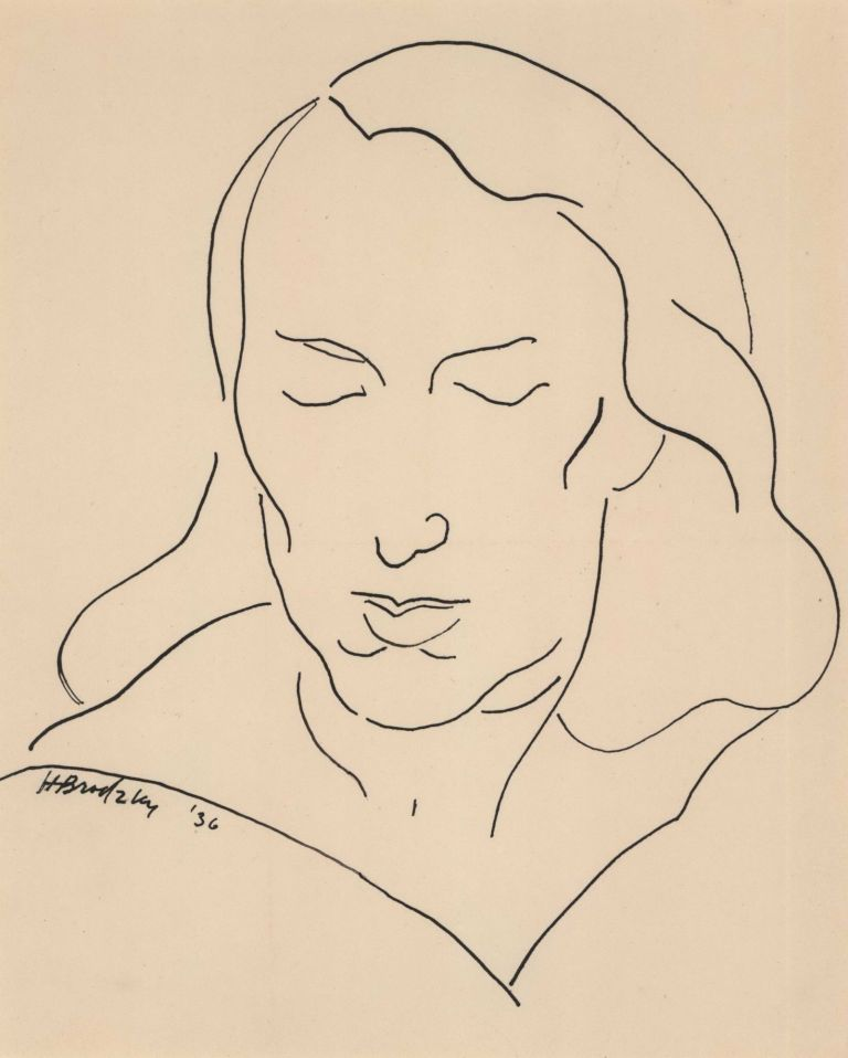 [Portrait Of A Woman]. Horace Brodzky, Aust.