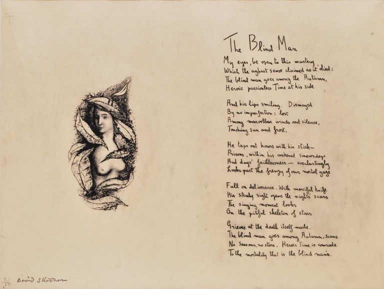 "[Vignette For ""The Blind Man""]. David Strachan, Brit./Aust."