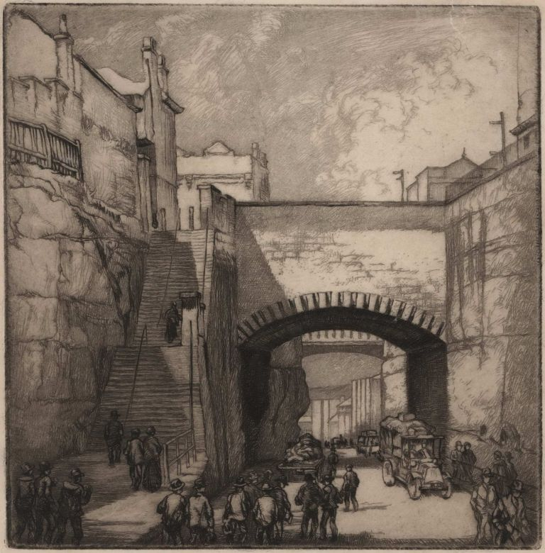 Argyle Cut [The Rocks, Sydney]. Alfred Edward Warner, Ernest, Aust.