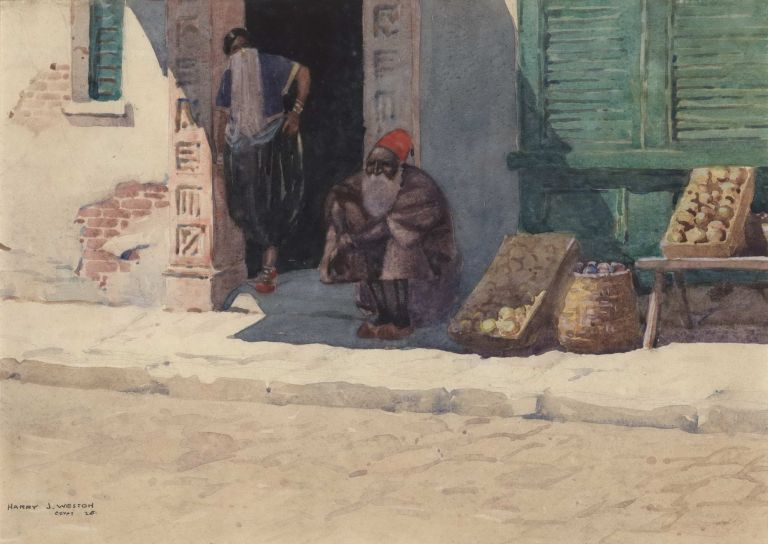 Egypt [Street Scene]. Harry J. Weston, Aust.