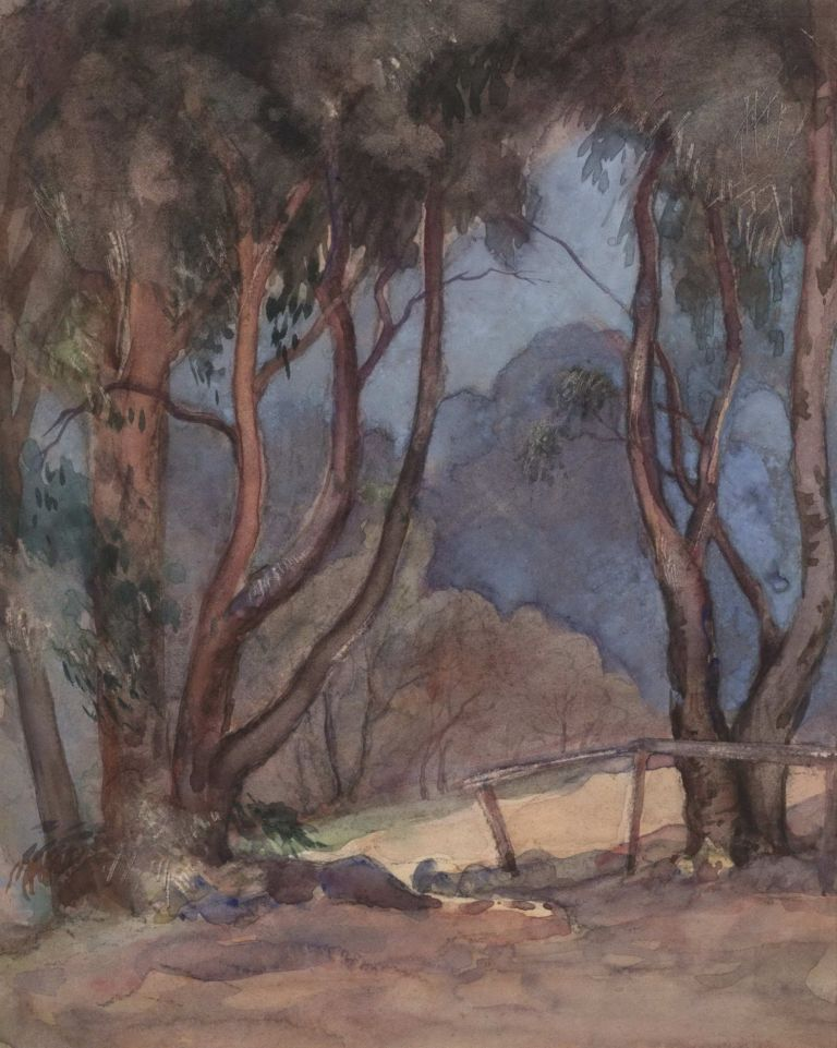 [Bushscape, Victoria]. Attrib. May Butler-George, Aust.