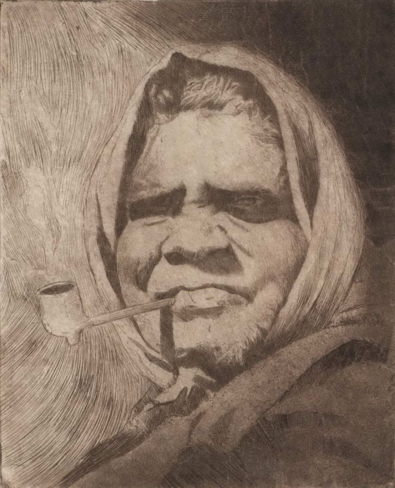 [Portrait Of Aboriginal Woman]. Cyril Dillon, Aust.